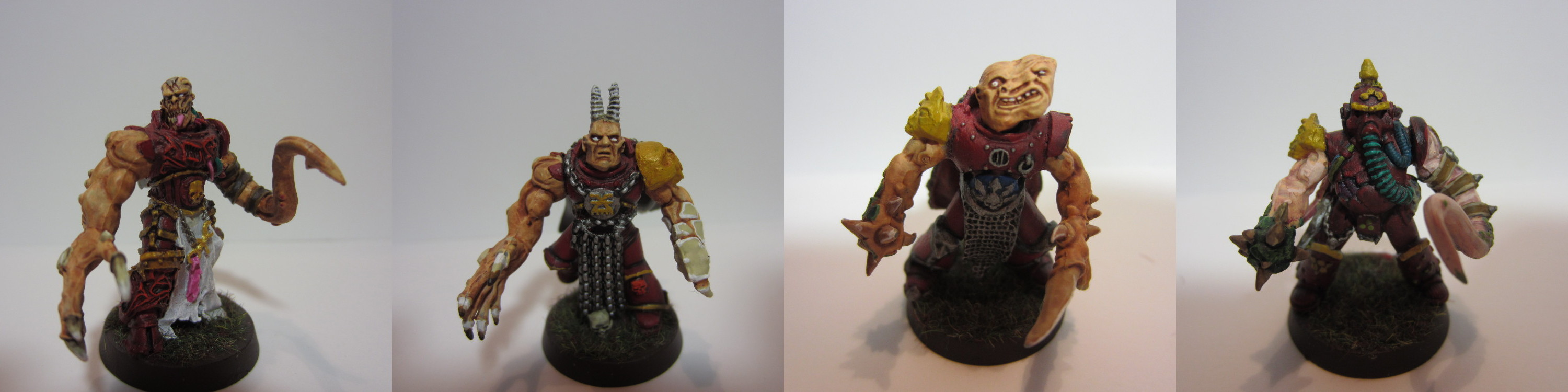 Four Chaos Warriors for a Bloodbowl Team