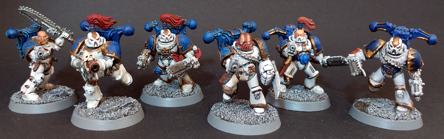 World Eaters Tactical Squad 1 - Bolt Pistol, Chainsaw, Melter, Champion with Lightning Claw